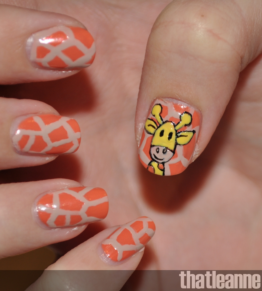 thatleanne: Giraffe Nail Art Tutorial/How To
