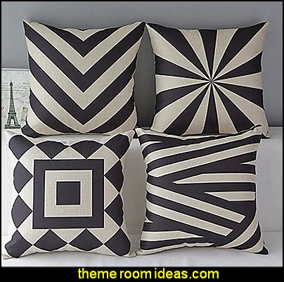 Modern Geometric Cotton/Linen Decorative Pillow Cover  Throw Pillows - decorative pillows - cushion covers - accent pillows - novelty pillows - unique pillows - Cushion Covers -  faux fur pillows - rhinestone  bling pillows - fun pillows - novelty throw pillows