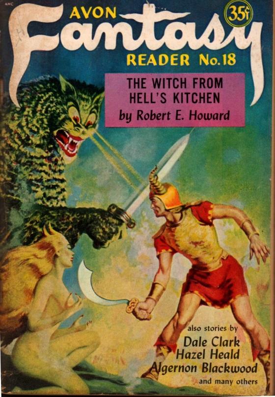 """PORTADA DE LA REVISTA AVON FANTASY READER #18 (MARZO 1952), DONDE SE INCLUYE EL RELATO DE JOHN SILENCE """"A VICTIM OF HIGHER SPACE"""" (1914)"""