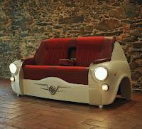 sillones con partes de carros