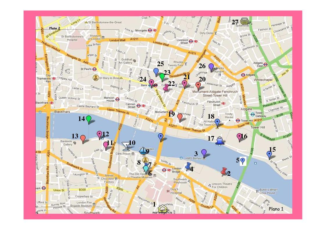 mapa de londres pdf Mis mapas de Londres.   Callejeando por el mundo mapa de londres pdf