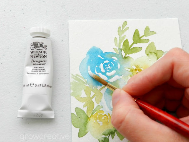 Watercolor Hacks- painting flowers:: Grow Creative Blog
