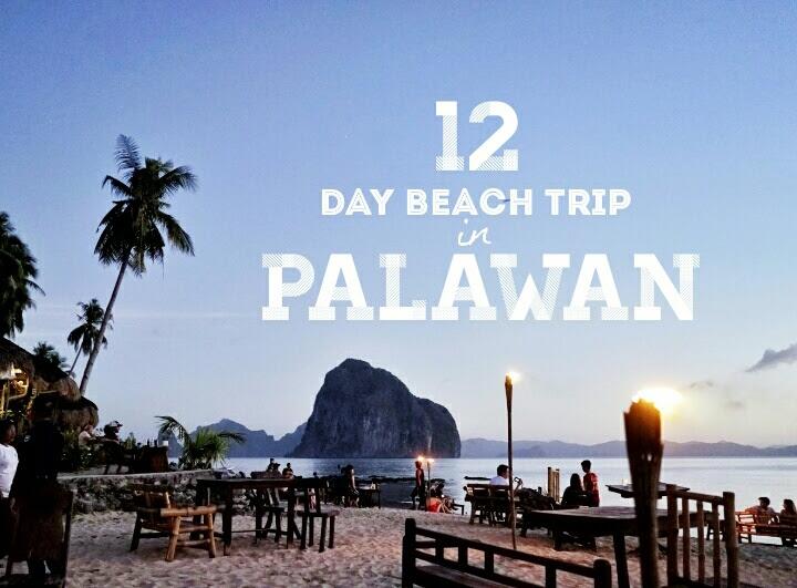 12 days beach trip palawan