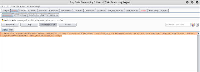 Convertendo o conteúdo da mensagem criptografada a base64 imagen