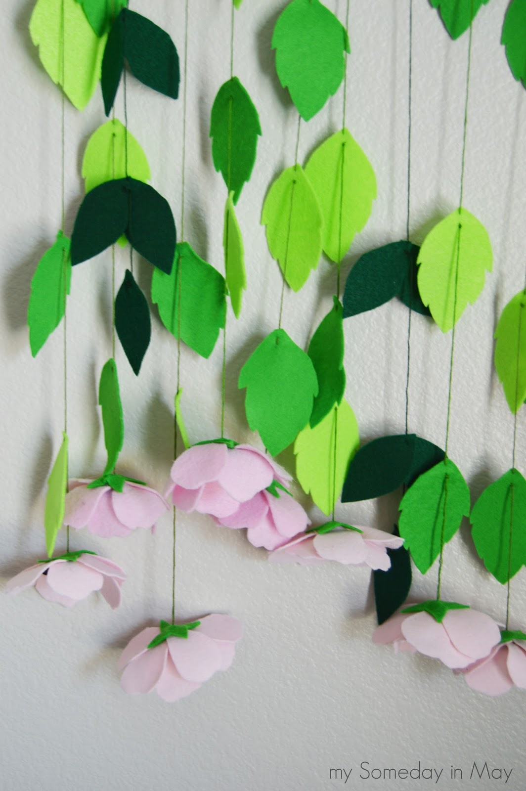 Diy Hanging Felt Flowers My Someday In May
