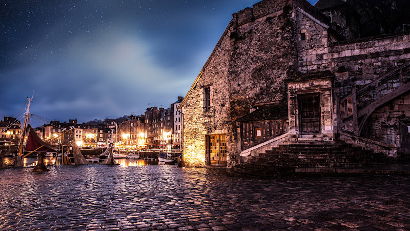 The Medieval Architecture in Honfleur City HD