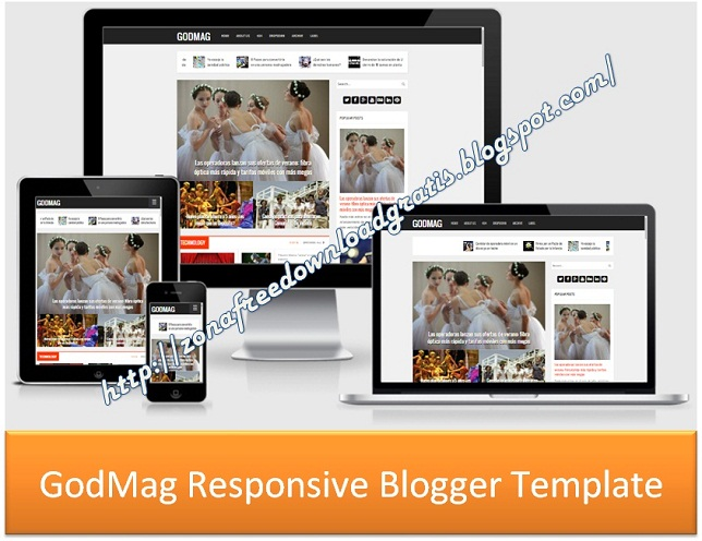 GodMag Responsive Blogger Template