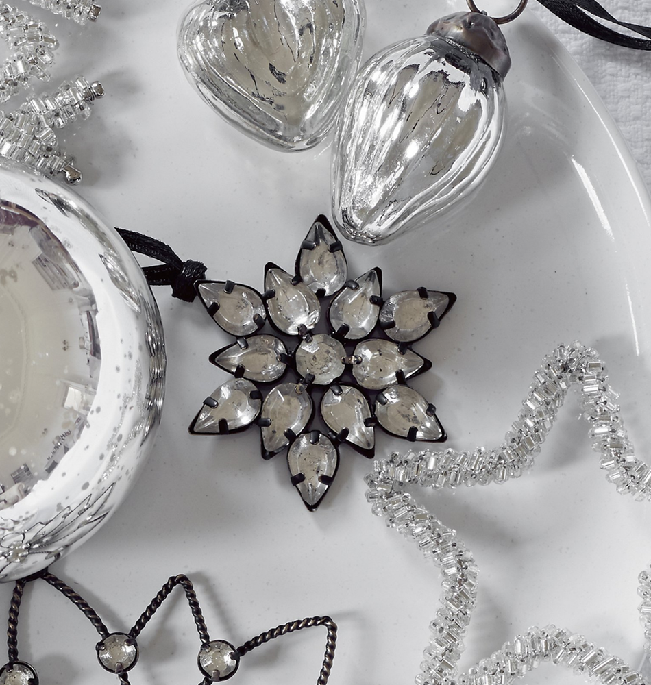 The White Company Antiqued Jewelled Flower