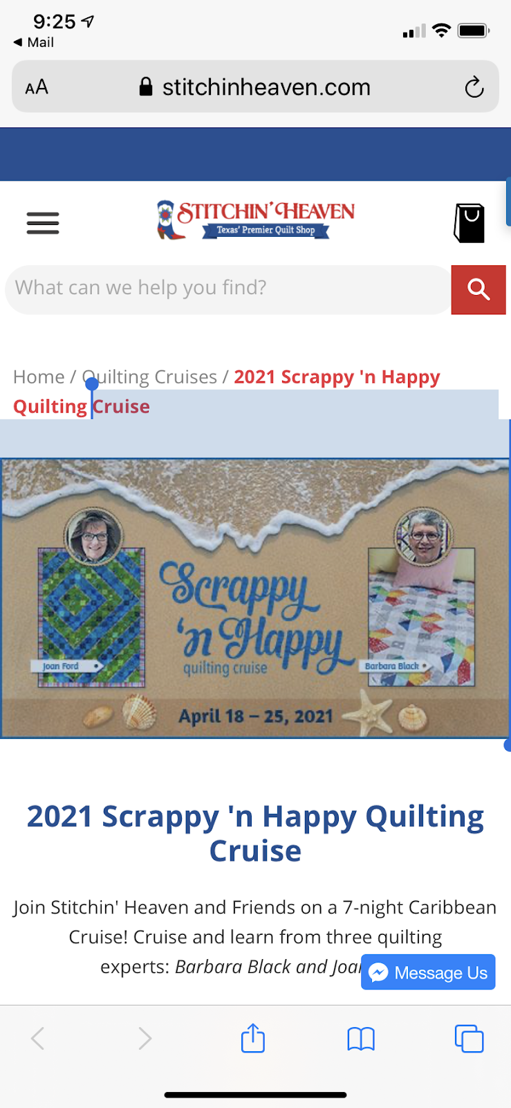 2021 CRUISE--Scrappy n Happy!