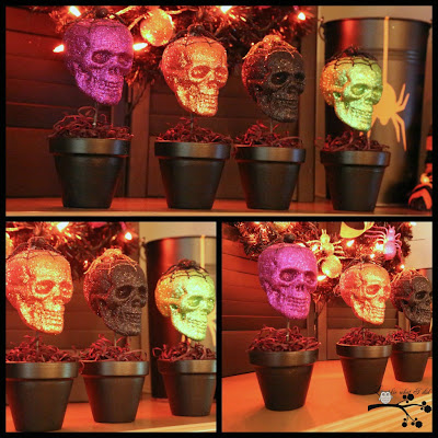 Lookie What I Did Our Halloween Mantel