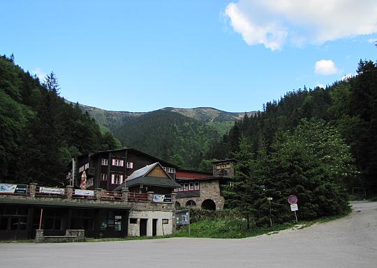Chata Vrátna (736 m n.p.m.).