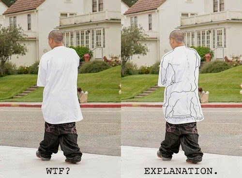 funny gangster baggy clothes explanation joke picture