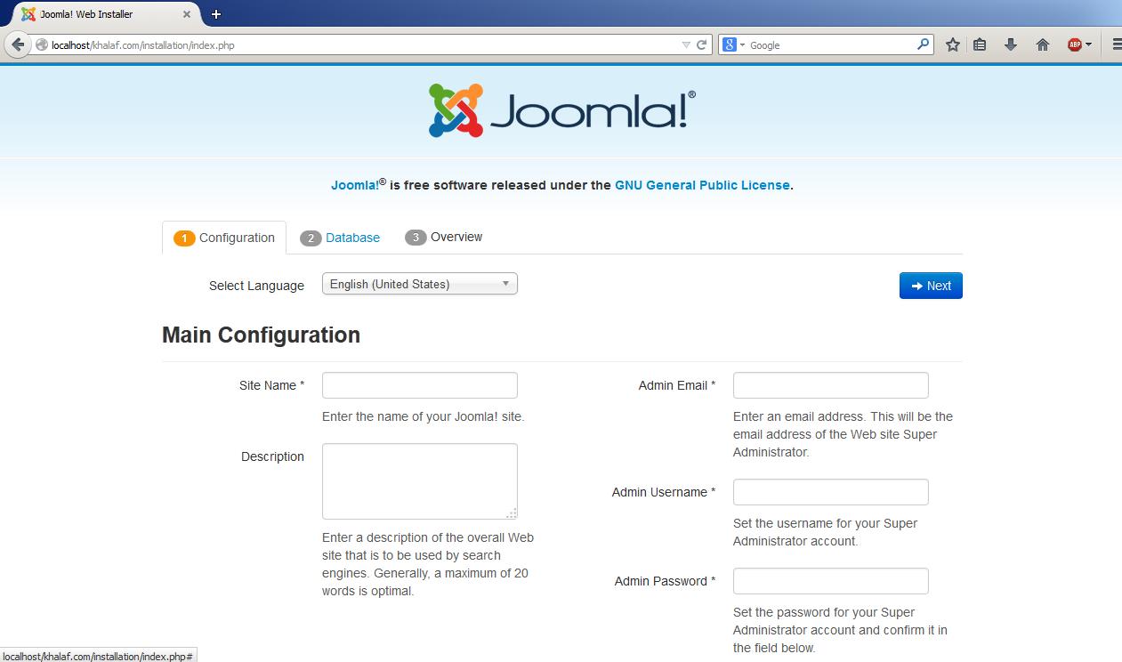 Step by Step installasi Joomla | Goresan Penaku