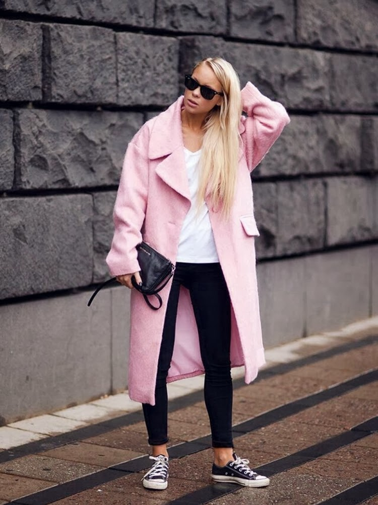 abrigos rosa _streetstyle
