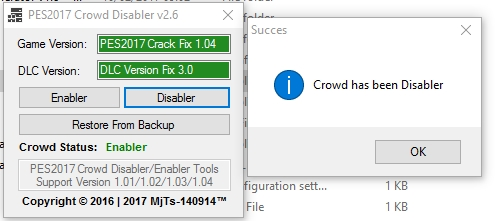 Crowd Disabler Tools V2 6 - PES 2017 - PATCH PES | New Patch