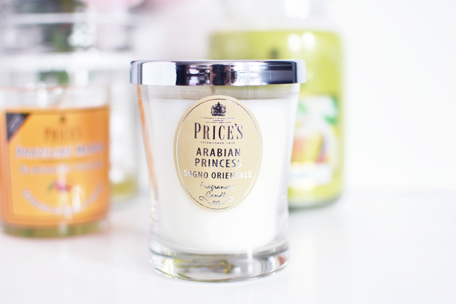 price's candles signature range