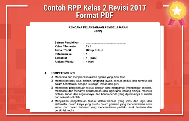 RPP Kelas 2 Revisi 2017