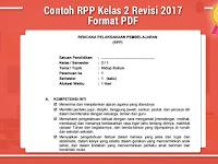 Contoh RPP Kelas 2 Revisi 2017 Format PDF