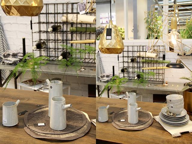 graue Kännchen von House Doctor und goldene Lampe von House Doctor auf der Ambiente 2016