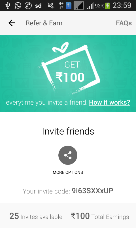 51b455623 Snapdeal Refer and Earn Dec 2015 Offer  Get Freecharge Credits ...
