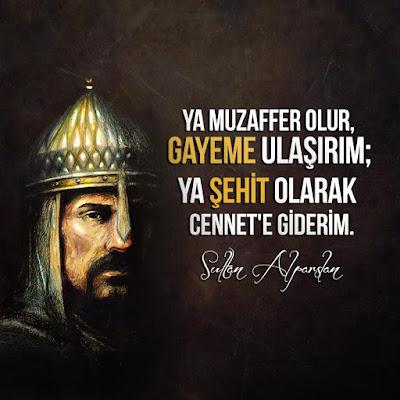 alparslan, sultan alparslan, muzaffer, malazgirt, Cennet, şehit, özlü sözler, güzel sözler, anlamlı sözler, türk, selçuklu, türk askeri, miğfer