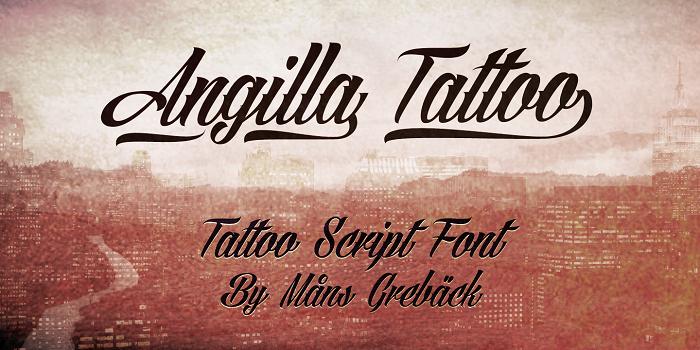 Download Kumpulan 30 Font Script Desainer grafis - Angilla Tattoo Font