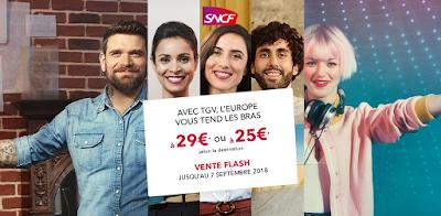 Promo SNCF : vente flash avec vente privée