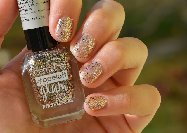 Catrice #peeloff Glam Easy To Remove Effect Nail Polish 03 When In Doubt, Just Add Glitter