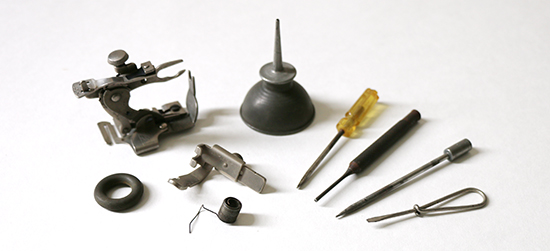Tools and Parts Used with Singer Treadle Sewing Machine