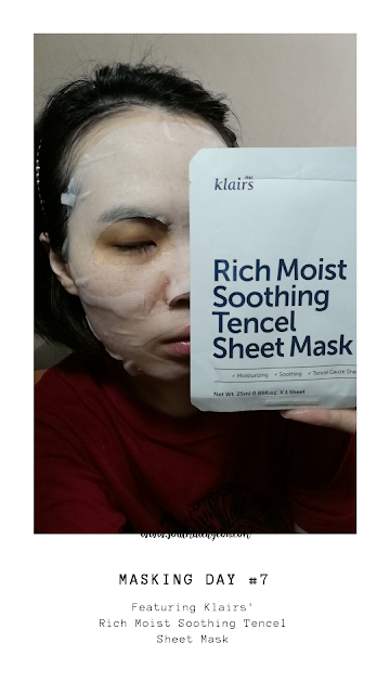 [Monthly Project] #25 7-Day Sheet Mask Challenge (feat. Klairs)