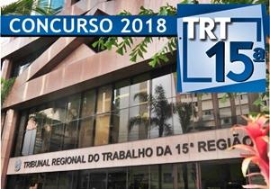 Concurso TRT-15 2018