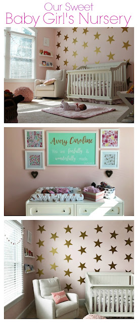Our Baby Girl's Nursery || The Chirping Moms. Nursery Inspiration. Baby Girl Nursery.