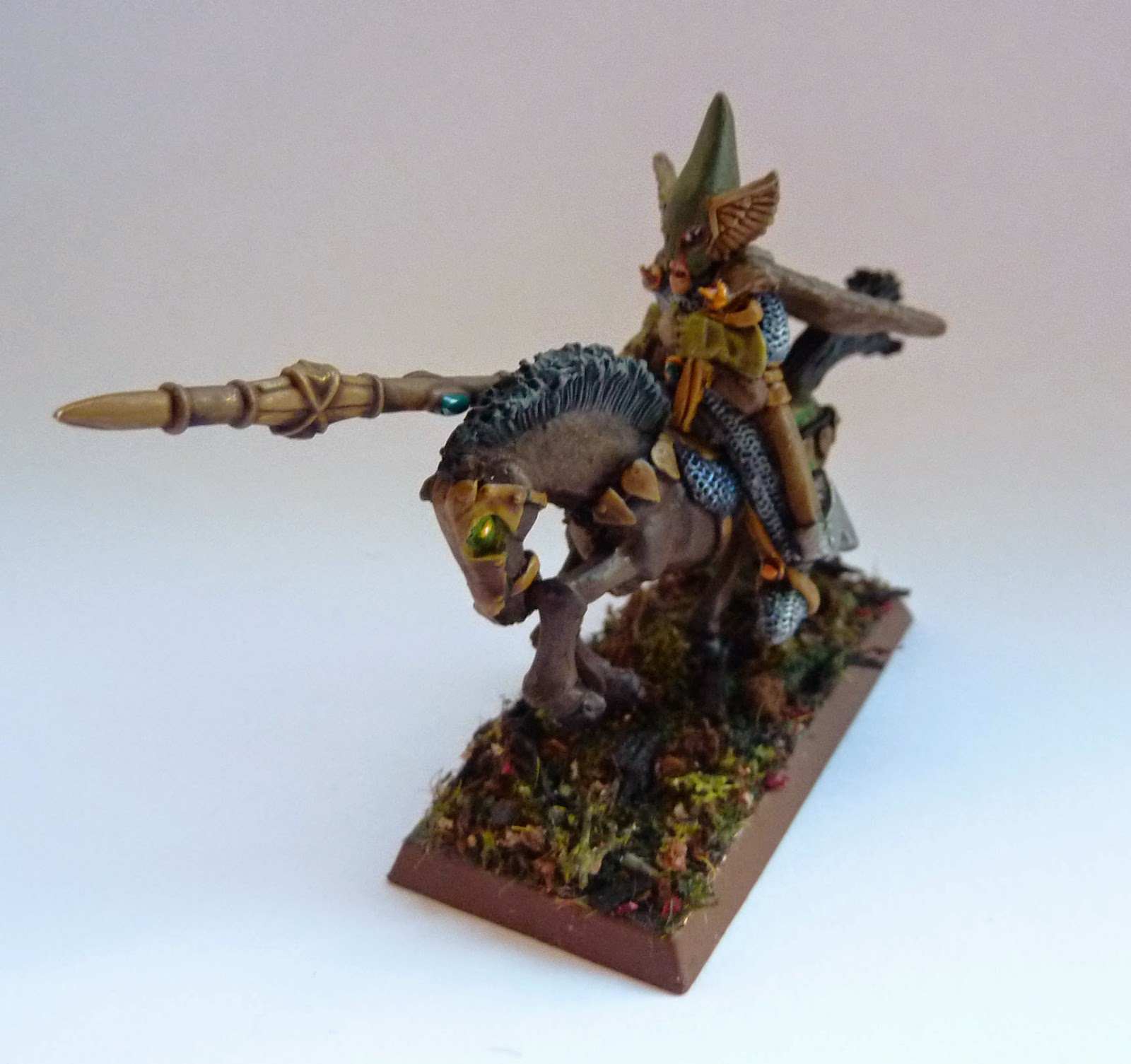 Wood Elf Wild Riders, converted from old metal Elf Cavalry.