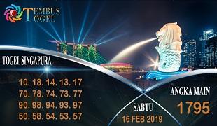 Prediksi Angka Togel Singapura Sabtu 16 Februari 2019