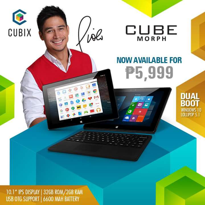 Cherry Mobile Cubix Morph Announced, Dual Boot Tablet With Keyboard For 5999 Pesos!