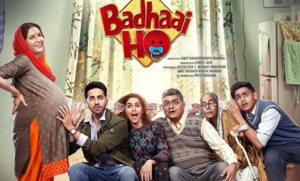 Badhaai Ho new upcoming movie first look, Poster of Ayushmann, Sanya next movie download first look Poster, release date