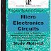 Micro Electronics Circuits PDF Study Materials cum Notes, Engineering E-Books Free Download
