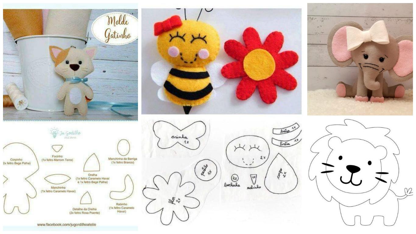 17 moldes de animalitos para hacer figuras en foami y - Como hacer figuras de fieltro paso a paso ...