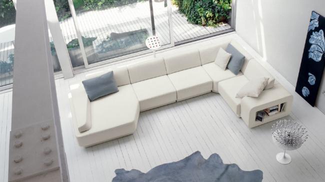 Le blanc en salon id e d co for Pavimenti case moderne