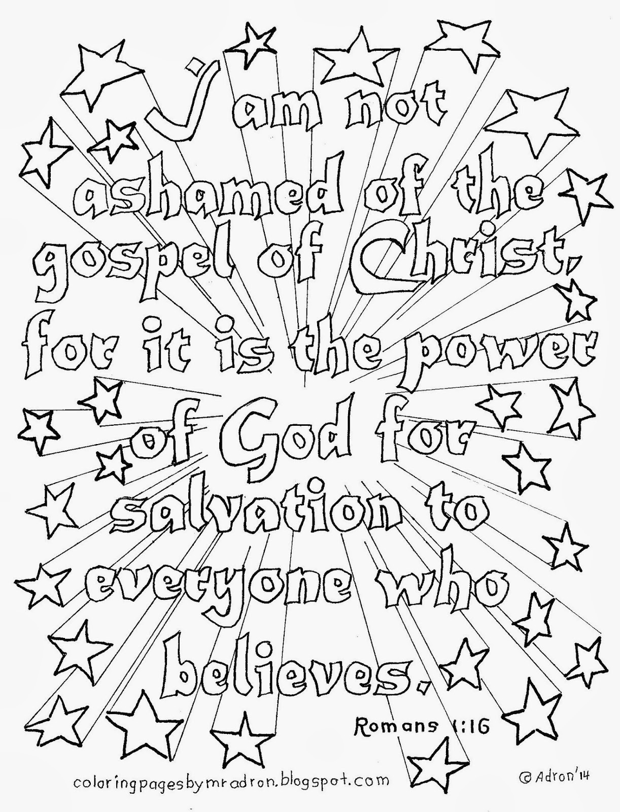 christian coloring pages with verses - photo #9