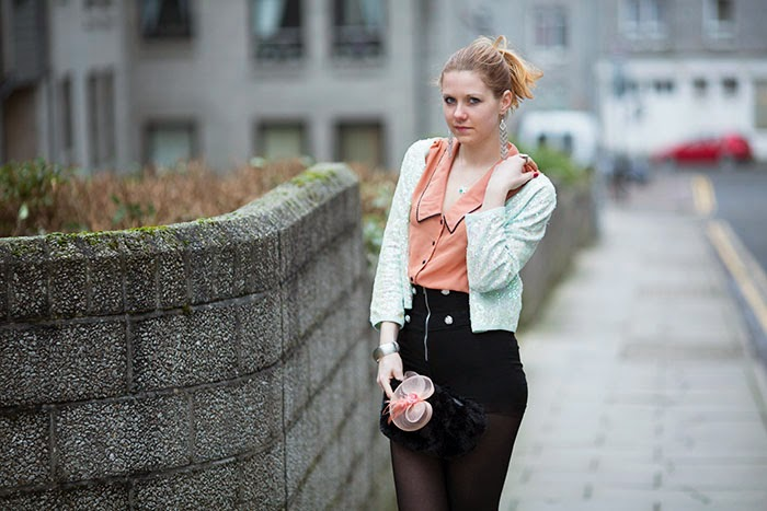 mint cardigan, sequins, czech fashion bloggers, influence