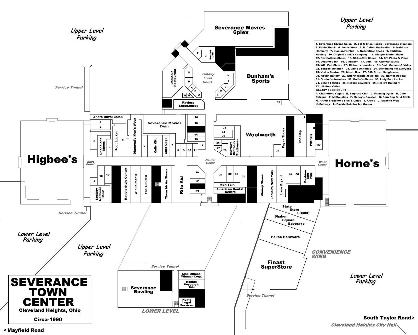 west wing office space layout circa 1990. A Gold Circle Discount Mart Was Added To The Southwest End Of Mall In 1981. Store Closed For Good 1984. Its Vacancy Expanded And Retenanted West Wing Office Space Layout Circa 1990
