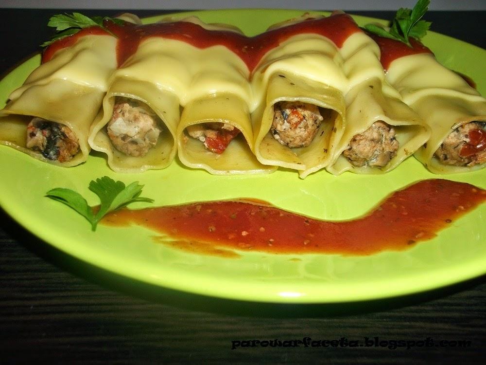 Cannelloni z mięsem mielonym w parowarze