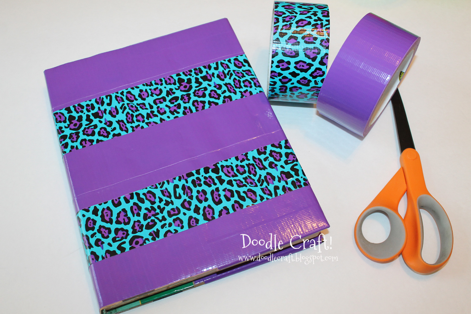 School Project Book Cover ~ Doodlecraft how to cover a textbook with duct tape