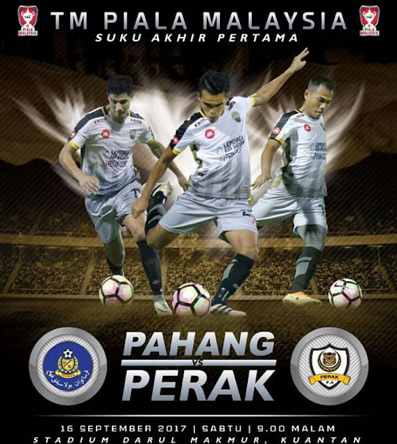 Live Streaming Pahang vs Perak 16.9.2017 Piala Malaysia