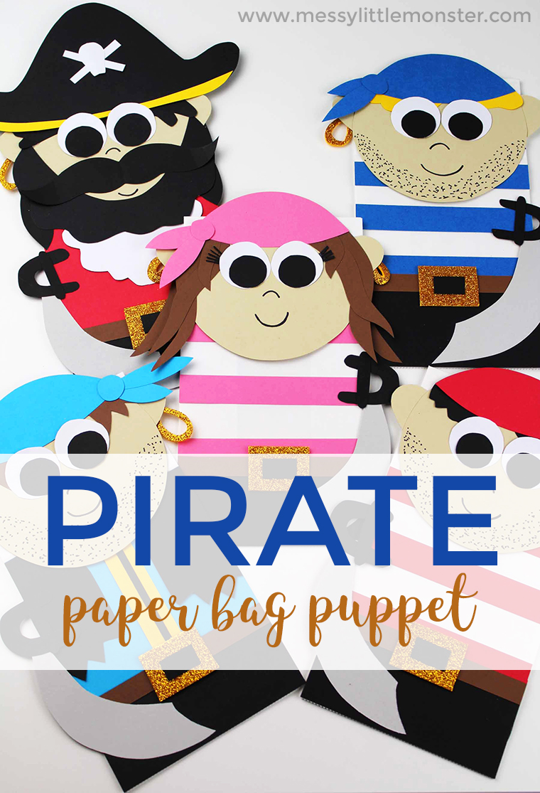 image regarding Free Printable Paper Bag Puppet Templates identify Pirate Paper Bag Puppet - a Entertaining Pirate Craft for Little ones
