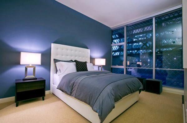 Dormitorio principal azul