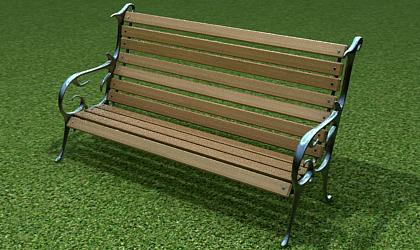 bench 3d model free