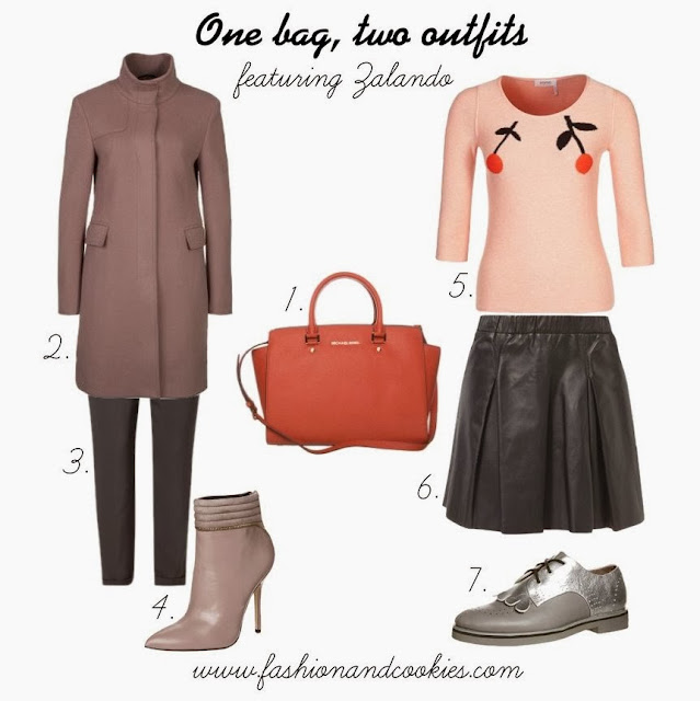 Zalando selection on Fashion and Cookies, one bag for two outfits