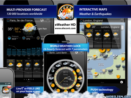 Download eWeather HD, Radar HD, Alerts v5 3 1 Apk | Download